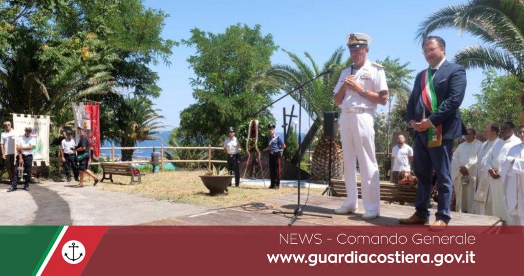Il Comandante Generale della Guardia Costiera partecipa alla commemorazione del 75° anniversario dell'affondamento del Piroscafo Santa Lucia
