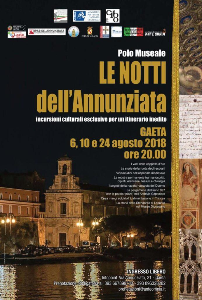 Gaeta Le notti dell'Annunziata Escursioni ed Incursioni nei Musei