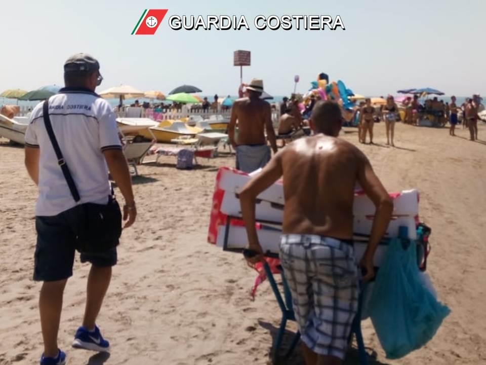 Foto3 Guardia Costiera: altro sequestro di prodotto ittico venduto in spiaggia sotto il sole tra i bagnanti